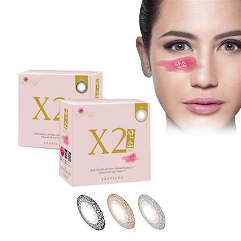 Silicone Hydrogel X2 Clear new x2 sanso color by softlens exoticon silicon