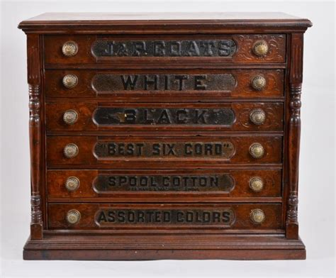 6 drawer spool cabinet antique 6 drawer j p coats spool cabinet