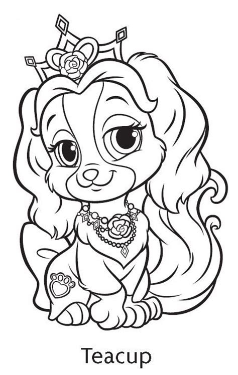 teacup puppies coloring pages palace pets teacup coloring page google search palace