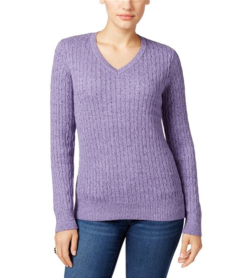 cable knit sweater womens womens marled cable knit sweater ebay