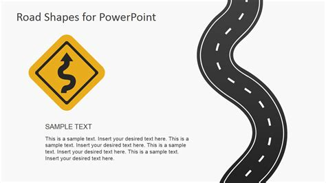powerpoint road template road shapes for powerpoint presentations slidemodel