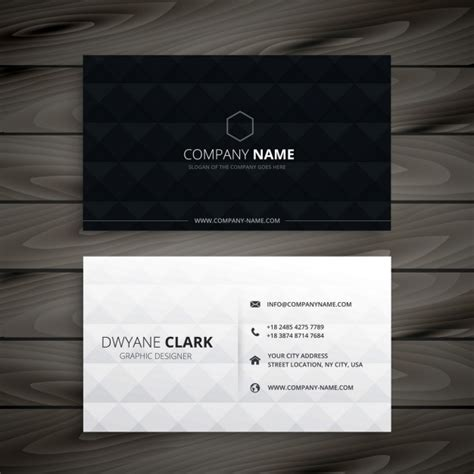 black business card template vector simple black and white business card vector free