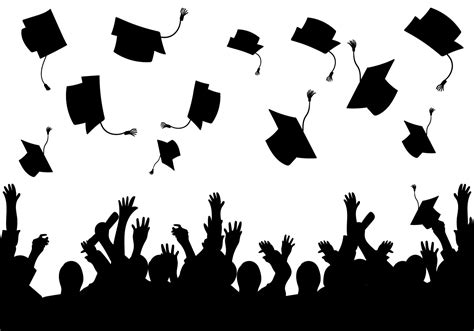 silhouette vector graduation background vector silhouette download free