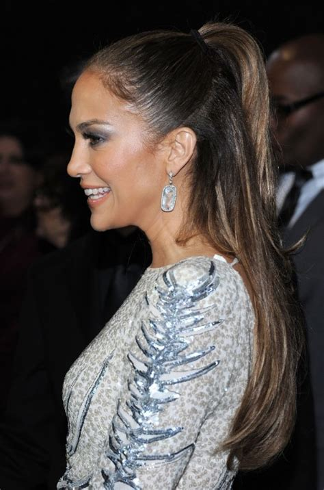 j lo ponytail hairstyles jennifer lopez half up half down ponytail hairstyle