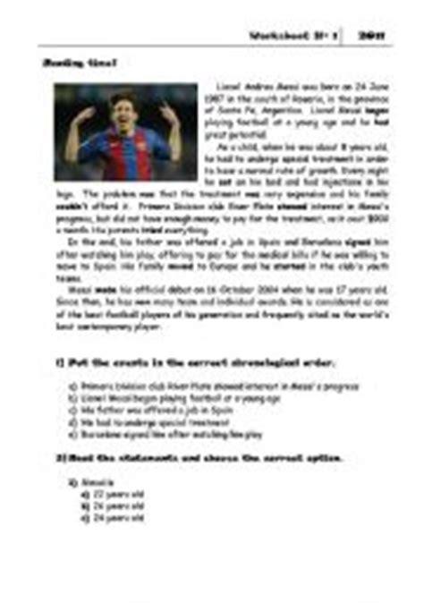biography messi in english english teaching worksheets leo messi