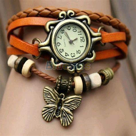 Jam Tangan Bracelet Vintage Korea Kulit New Terbaru Sale Promo 1 retro weave around leather bracelet fashion quartz wrist ebay