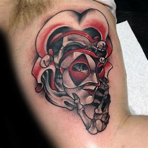 tattoo ideas jester 50 jester tattoo designs for men entertainer ink ideas