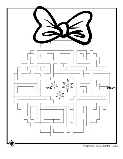 printable holiday mazes free christmas wreath maze 3 woo jr kids activities
