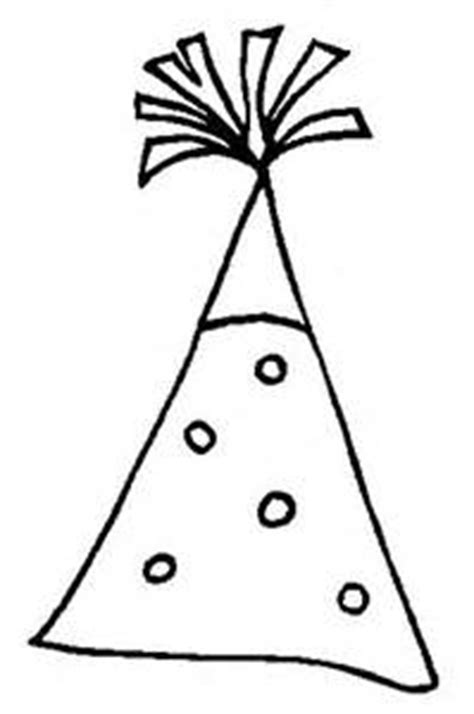 coloring page party hat birthday hat drawing clipart best