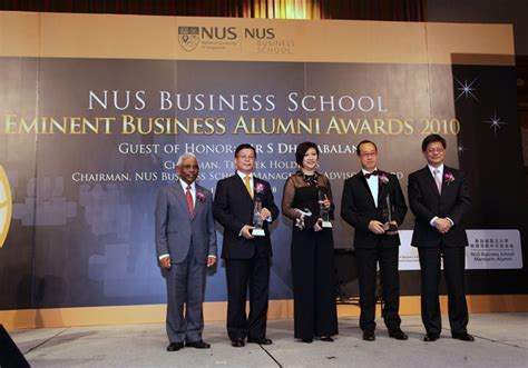 Nus Mba Alumni nus business school eminent business alumni awards 2010