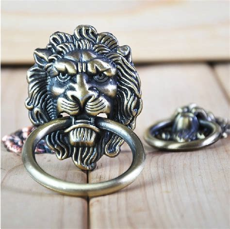 decorative kitchen cabinet knobs 20pcs lot decorative hardware lion head kitchen cabinet