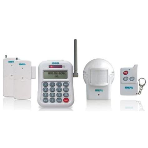 ideal security wireless alarm set with telephone dialer