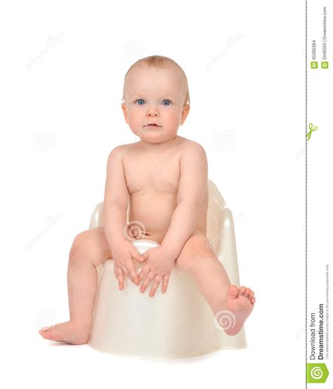 Pale Stools Toddler by Infant Child Baby Boy Toddler Sitting On Potty Toilet Stool Pot Stock Photo Image 65390384