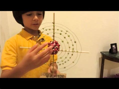 how much protons does gold atom model science project