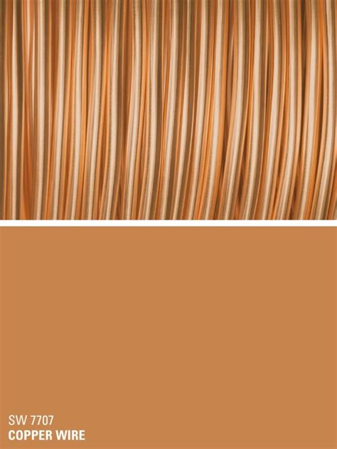 sherwin williams orange paint color copper wire sw 7707