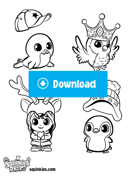 Coloring Pages Official Squinkies Welcome To Squinkieville Squinkies Coloring Pages
