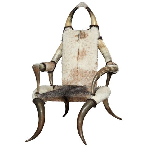horn chair horn chair