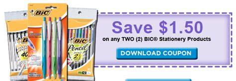 New Bic Stationary Product Printable Freebies At Staples | new bic stationary product printable freebies at staples
