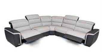 Leather Recliner Sectional Sofa Carola Top Grain Italian Leather Sectional Sofa With Electronic Recliners Leather