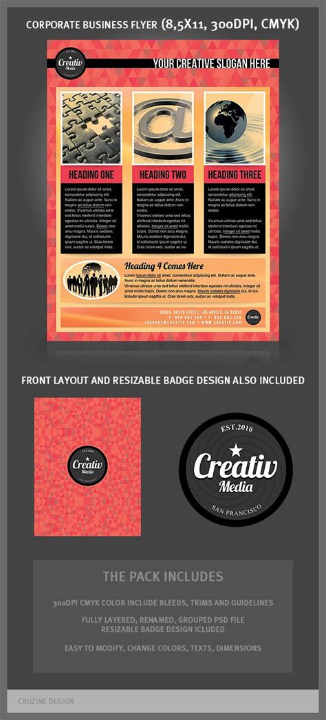 flyer design inspiration pinterest great corporate flyer templates typography editorial