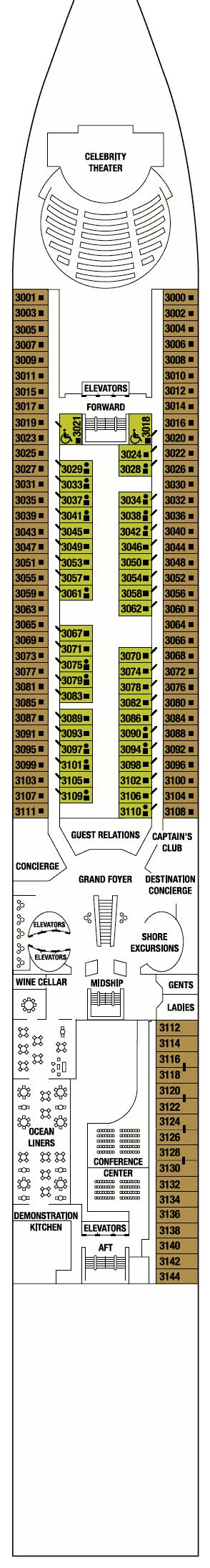 celebrity constellation floor plan celebrity constellation deck plans