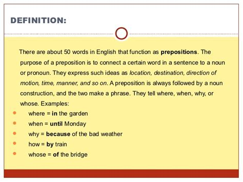 what is section 23 preposition use presentation