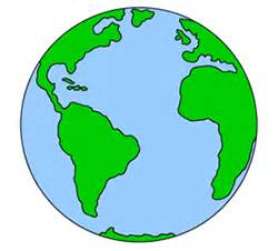 Simple cartoon earth with line drawing for colouring earth day