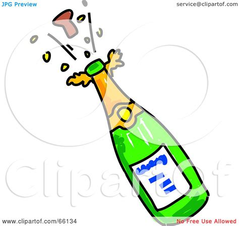 clipart brindisi royalty free rf clipart illustration of a cork popping