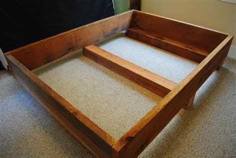 diy full bed frame diy project 2 redwood bed frame transmigration