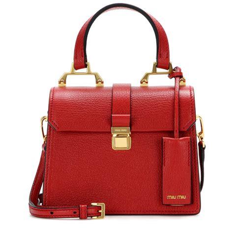 Miu Miu Spider Leather Bag by Miu Miu Leather Shoulder Bag In Lyst