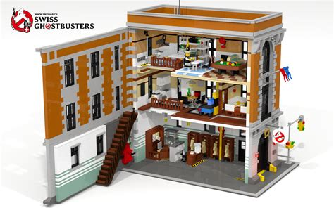 Lego Ghostbusters House by I Present You Lego Ghostbusters Hq Custom Moc Built The Lego Ghostbusters Headquarter Is