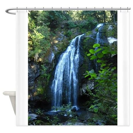 waterfall shower curtains waterfall shower curtain by mothernaturesdesigns