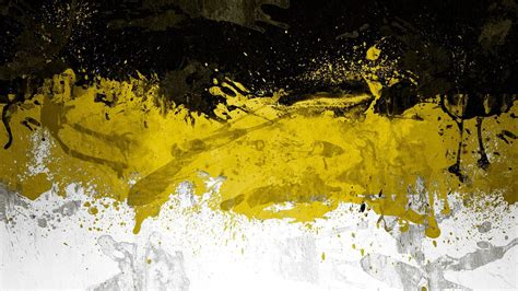 Abstract black textures white yellow wallpaper   (142342)