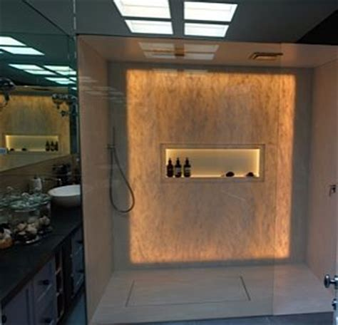 corian hinterleuchtet back lit shower walls and shower floor with corian