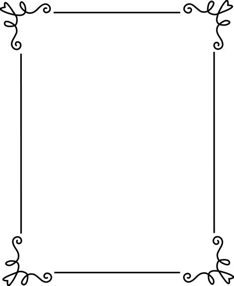 simple elegant black frame free clip art