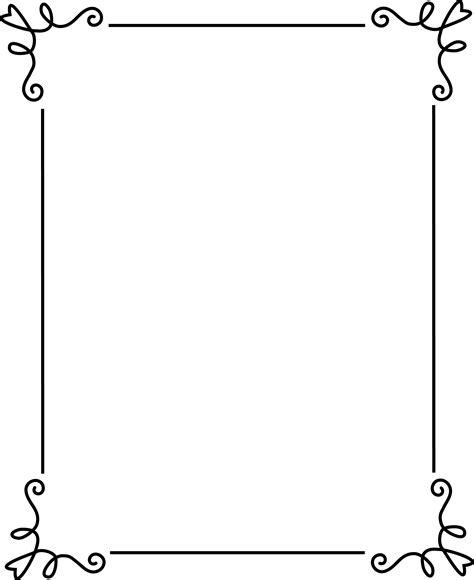 Simple Elegant Black Frame Free Clip Art