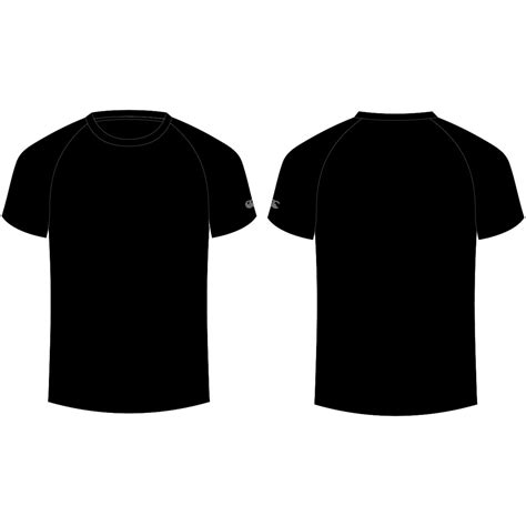 black tshirt plain with front and back clipart best
