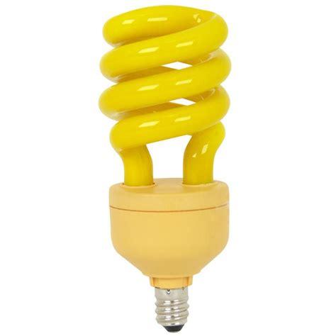 candelabra bug light bulbs feit electric 60 watt equivalent t3 spiral cfl yellow bug