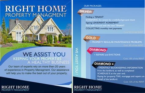 property management postcards templates help right home property management with a new postcard or