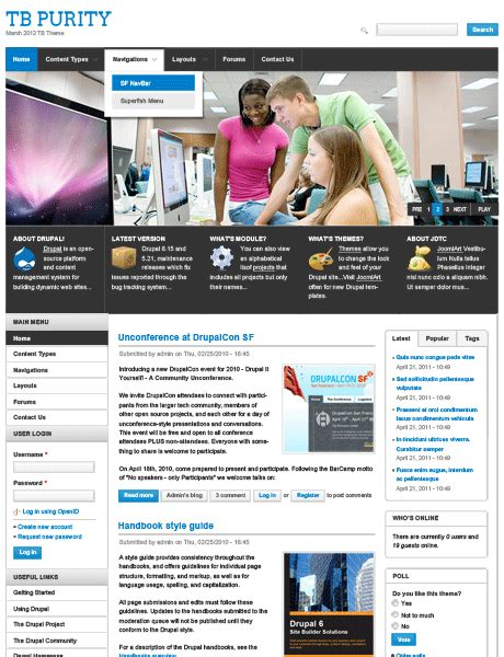 drupal nucleus theme free drupal theme tb purity based on nucleus base theme