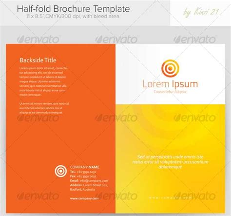bi fold card template word half fold brochure template publisher best and