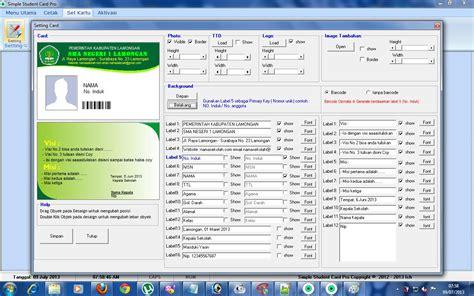 aplikasi membuat id card gratis software id card simple student card professional