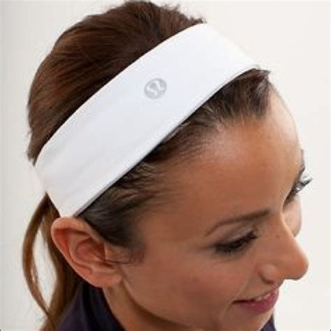 lululemon patterned headbands lululemon athletica white lululemon headband from