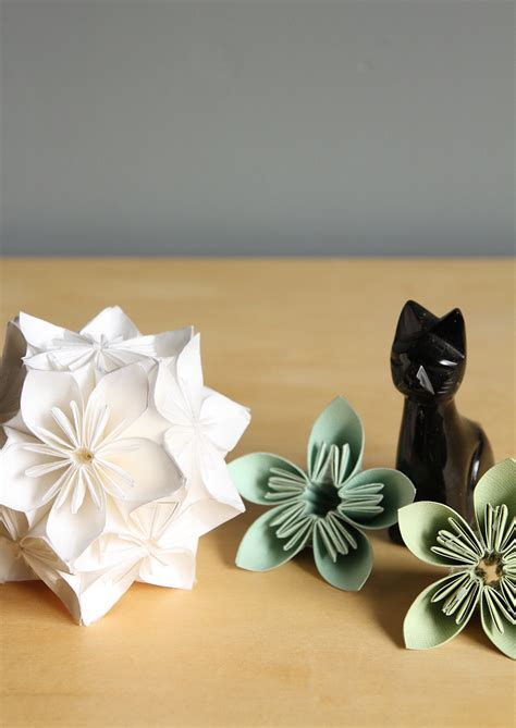 origami paper flower ball tutorial step by step kusudama flower ball