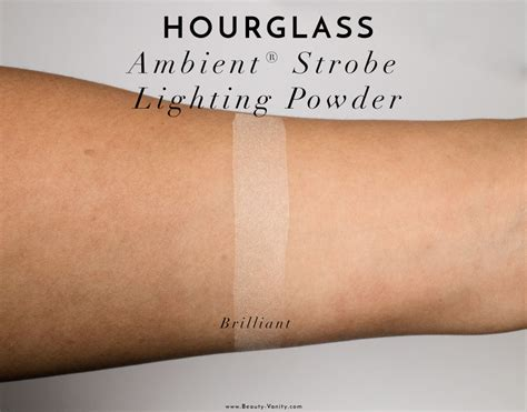 hourglass ambient lighting powder swatches hourglass ambient strobe lighting powder review swatches