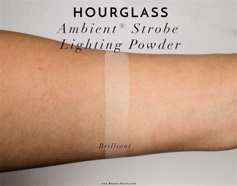 hourglass strobe lighting powder hourglass ambient strobe lighting powder review swatches