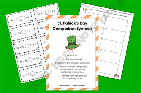 place value right left center game st patrick s day 71 best st patrick s day math activities images on