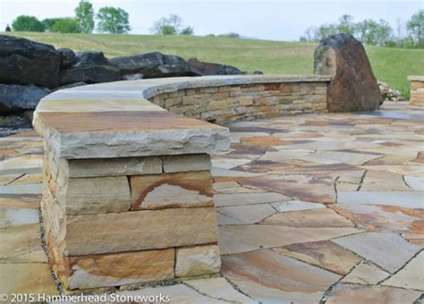 seating wall walls hammerhead stoneworks asheville