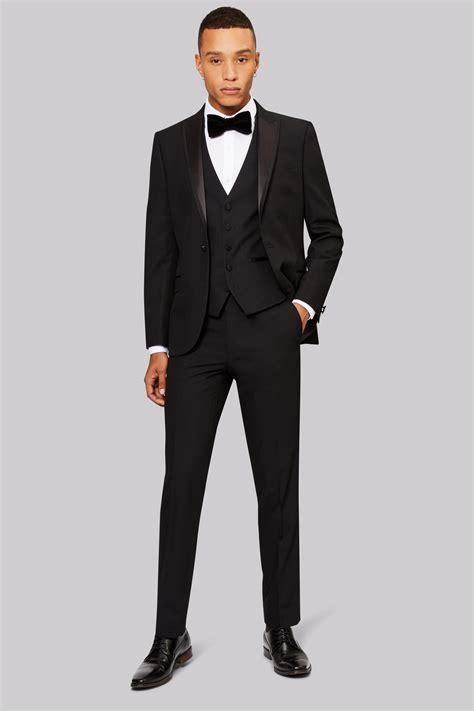 moss fit black tuxedo jacket