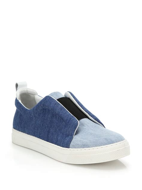 Sneakers Denim lyst hardy multi denim slip on sneakers in blue